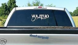 D1046 9-Inch OUTLAW DECAL STICKER TRUCK SUV VAN LAPTOP BOAT