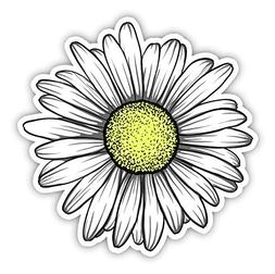 Daisy Flower Sticker for Car Truck Windows Laptop Any Smooth