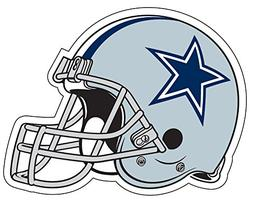 "Dallas Cowboys Helmet 5"" To 11"" full color vinyl decal sti"
