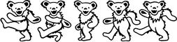 Dancing Bears Decal Sticker Window Laptop Yeti Hippie Gypsy