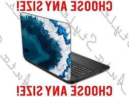 Dark Blue Soapy Agate Rock Crystal Laptop Skin Vinyl Decal S