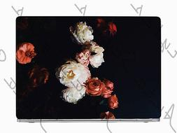 Dark Romantic Flowers Peony Laptop Skin Vinyl Decal Sticker