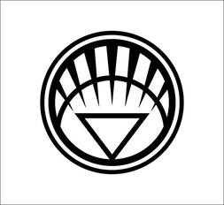 "DC COMICS WHITE LANTERN CORP LOGO STICKERS SYMBOL 5.5"" DECOR"