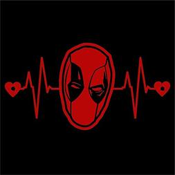 DeadPool Heartbeat Decal Vinyl Sticker|Cars Trucks Vans Wall