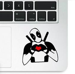 Deadpool Making Heart Macbook Trackpad Laptop Decal Vinyl St