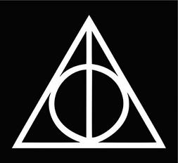 Deathly Hallows Harry Potter | Die Cut Vinyl Car Decal Stick