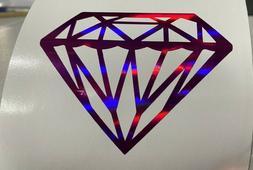 Diamond Decal Car Window Vinyl Jewel Laptop Sticker Fuchsia