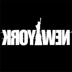DECAL  NEW YORK STATUE OF LIBERTY CITY VINYL STICKER WINDOW