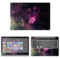 decalrus - Protective Decal Galaxy Skin Sticker for Dell Ins