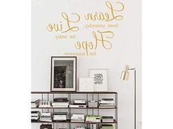 Decals Wall Stickers Sayings Lettering Room Home Wall Decor
