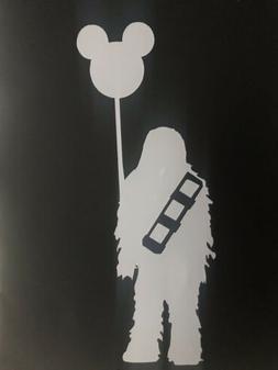 Disney Decal Sticker Chewbacca with Mickey Balloon Star Wars