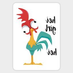 Disney Moana Hei Girl Chicken Vinyl Decal Decor Sticker Lapt