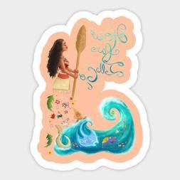 Disney Moana How Far I'll Go Vinyl Decal Decor Sticker Lapto