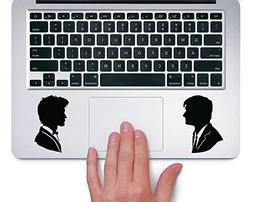 10th and 11th Doctor Who Silhouette - Trackpad Apple Macbook