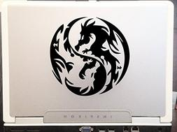 Dragon Yin Yang - Tribal Decal Vinyl Removable Decorative St