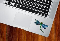 Dragonfly Design 3 - Stained Glass Style - Vinyl Decal for L