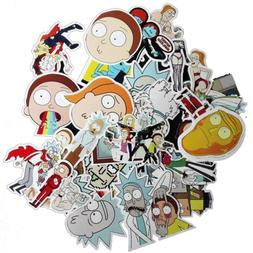 35Pcs Drama Rick and Morty Stickers Decal For Snowboard Lapt