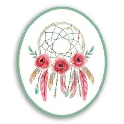 Dreamcatcher Flowers Boho Style Car Laptop Phone Vinyl Stick