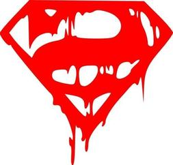 Dripping Superman Vinyl Decal Sticker | Cars Trucks Vans Wal