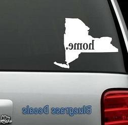 E1033 NEW YORK HOME STATE Decal Sticker Car Truck SUV Van LA