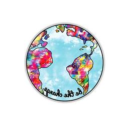 Earth Sticker Be The Change Planet Earth Decal by Megan J De