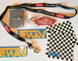 Vans Enamel Pin Off The Wall Lanyard Keychain & Stickers Lot