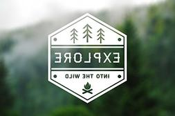 Explore Into The Wild Wanderlust Decal Vinyl Sticker|Cars Tr