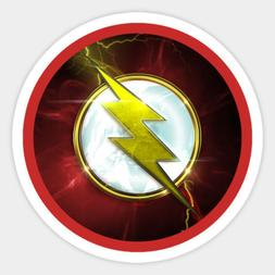flash red lightning logo dc comics vinyl