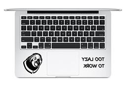 Flash Too Lazy To Work Zootopia Walt Disney macbook Decal St