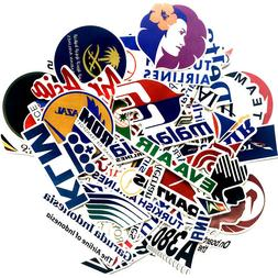 Flight Airline Logo Sticker Bomb Pack Lot Mixed Travel Lapto