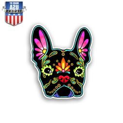 Flower French Bulldog Cute Sticker Decal Phone Car Window La