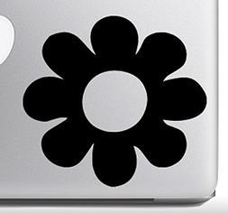 "Flower Power #1 - Flower Petal - Black 5"" Vinyl Decal Sticke"