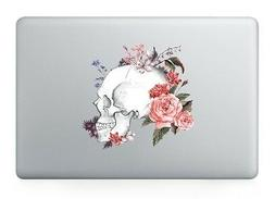 Flowers Skull Laptop Apple Sticker Viny Decal Macbook Air/Pr