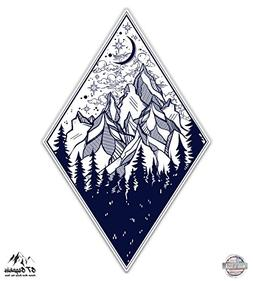 "Forest Mountains Adventure - 8"" Vinyl Sticker - For Car Lapt"
