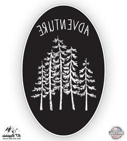 "Forest Oval Woods Adventure - 12"" Vinyl Sticker Waterproof D"
