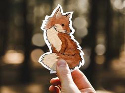 Fox Sticker, Woodland Animal, Orange, Forest Water Bottle La