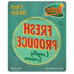 fresh produce farm stand vinyl sticker vintage