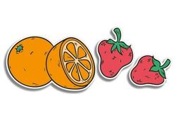 Fruits Orange Strawberries Car Laptop Phone Vinyl Sticker  -