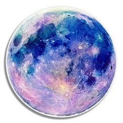 Full Moon Beautiful Blue Car Laptop Phone Vinyl Sticker  - S