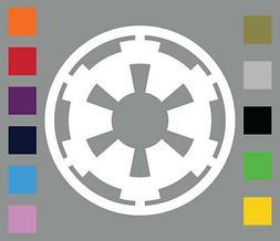 Galactic Empire Die Cut Vinyl Decal • Star Wars Car Window