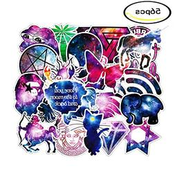 Galaxy Stickers 56PCS Laptop Decal Stickers Pack skateboard