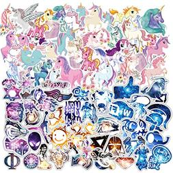 200 PCS Galaxy and Unicorns Laptop Stickers for Car, Laptop,