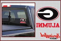 Georgia Bulldogs ALUMNI Clear Vinyl Decal Car Truck Sticker