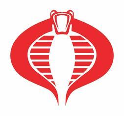 GI Joe Cobra Command Die cut Vinyl Decal - Logo Car Window S