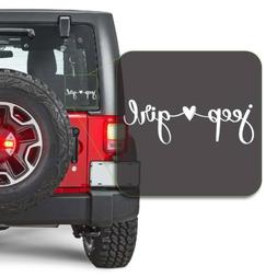 Girl Loves Jeep Decal Sticker for Car Window, Laptop and Mor
