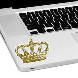 "Gold Crown Laptop Trackpad Sticker 3"" tall x 4"" wide"