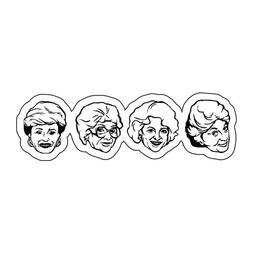 Golden Girls heads Blanch Dorothy sticker decal laptop car p