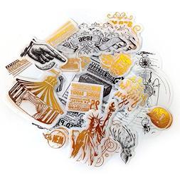 MiiSii 60 Pieces 0.8 - 4.4 Inches Large Golden Metallic Stic