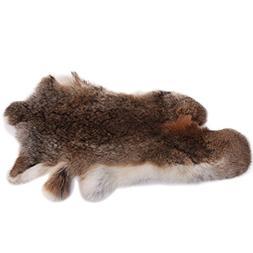 URSFUR Natural Top Grade Rabbit Fur Large Soft Pelt Skin 18.