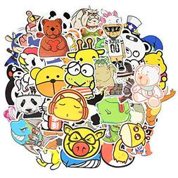 Waterproof Cartoon Animal Vinyl Stickers for Laptops Folders